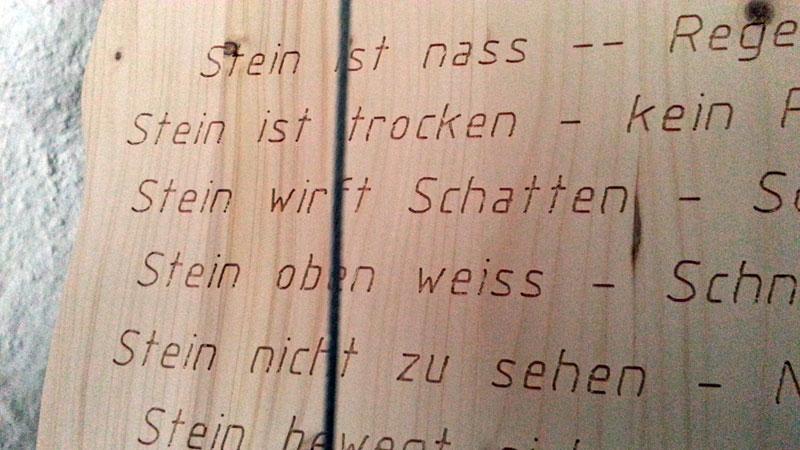 Wetterstein, Wetterstation mit Name, Unikat, Holz, Geschenk