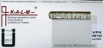 Verbundanker Patrone + Ankerstange M10x165 verzinkt