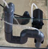 Aquarien Überlauf / Ablauf 40mm Bausatz mit Pumpe, zumnachträglichen Einbau