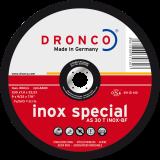 AS 30 T INOX Schruppscheibe Metall, für Edelstahl, hochlegierte Edelstähle, Edelstahlblech, rost- und säurebeständige Stähle, NE-Metalle