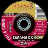 AK 36 T CERAMAXX,Schruppscheibe ideal für anspruchsvollste Schleifarbeiten, für alle Metallsorten